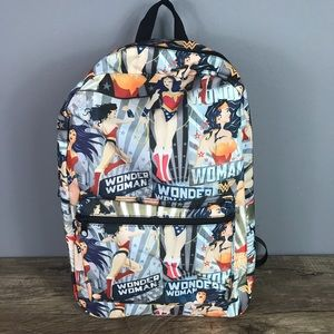 NEW Wonder Woman DC Comics Backpack Book Bag